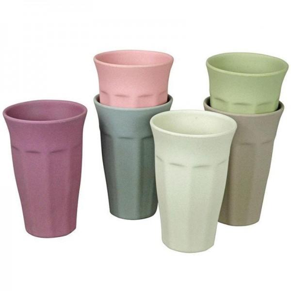 Bambus XL Becherset Cupful of Color, 6 Stück - Zuperzozial