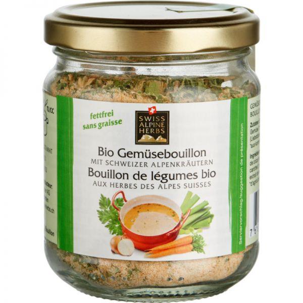 Gemüsebouillon im Glas Bio, 140g - Swiss Alpine Herbs