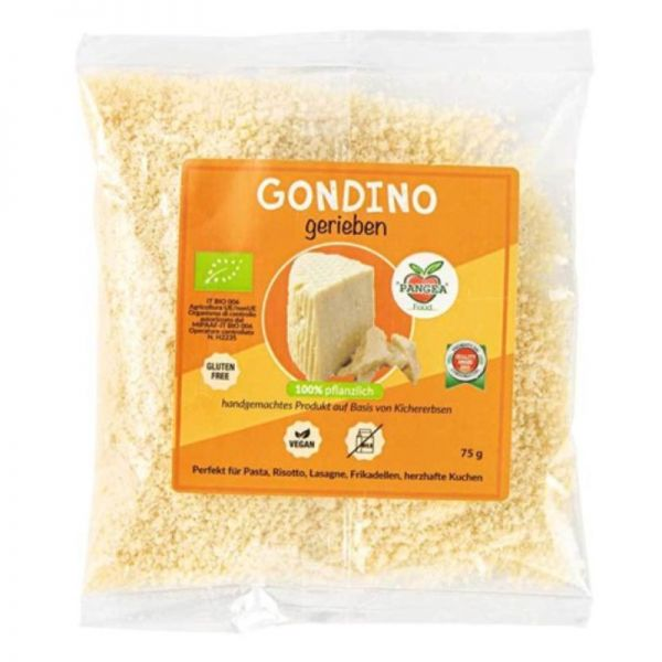 Gondino Alternative zu Hartkäse gerieben Bio, 75g - Pangea Food
