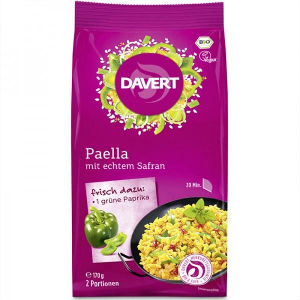 Paella mit echtem Safran Bio, 170g - Davert