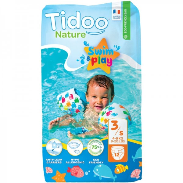 Swim&Play Windeln Grösse 3-S / 4-9kg, 12 Stück - Tidoo