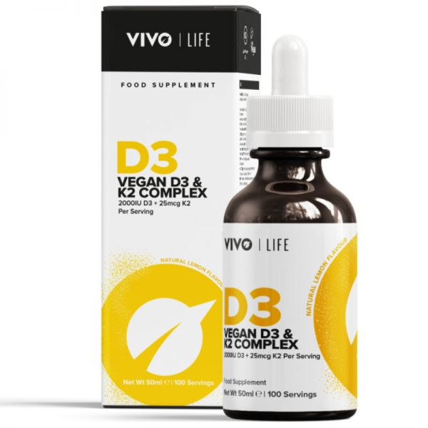Vegan D3 & K2 Complex, 50ml - VIVO