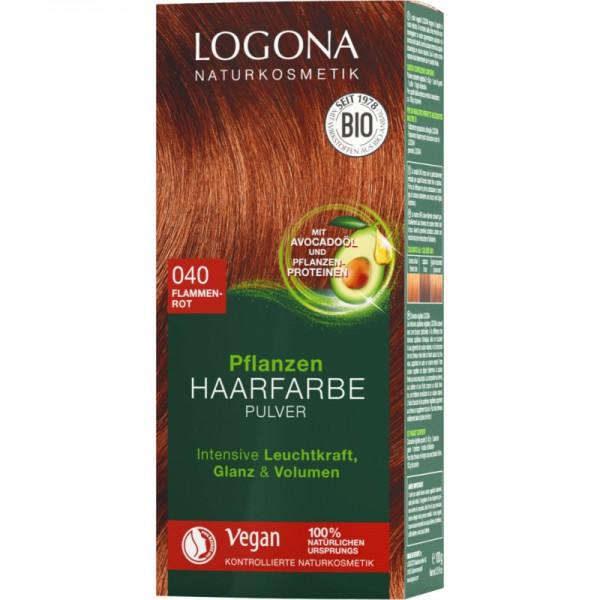 Pflanzen Haarfarbe 040 flammenrot, 100g - Logona