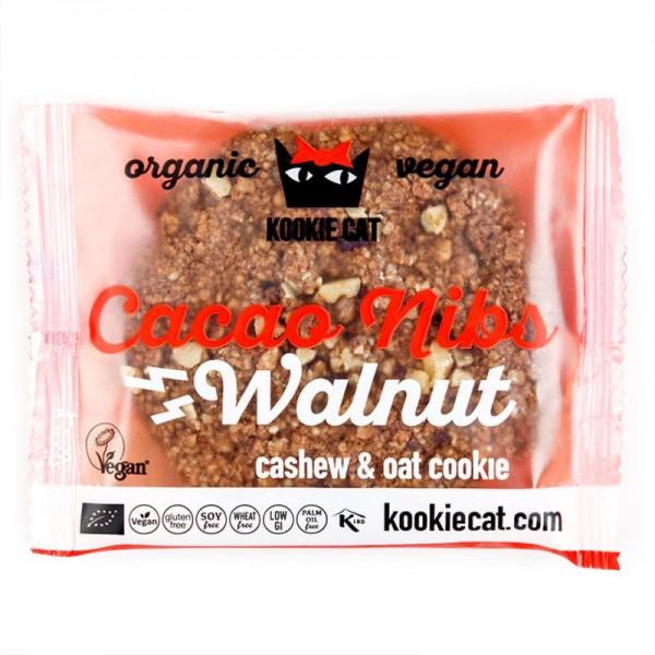 Cacao Nibs Walnut Bio, 50g - Kookie Cat