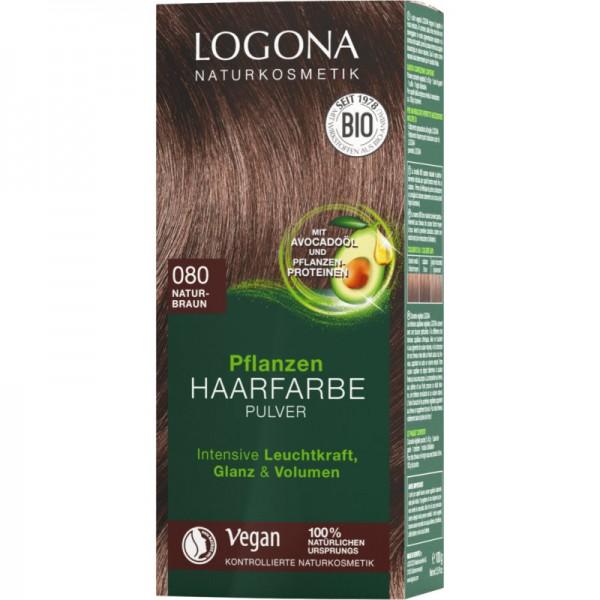 Pflanzen Haarfarbe 080 naturbraun, 100g - Logona