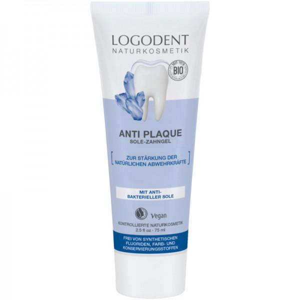 Anti Plaque Sole-Zahngel, 75ml - Logodent