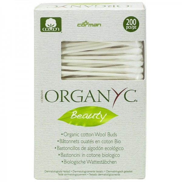 Wattestäbchen Bio-Baumwolle, 200 Stück - Organyc