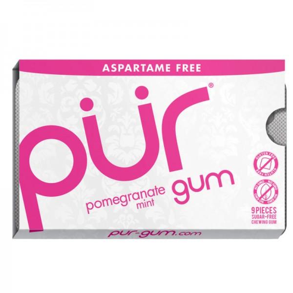 Kaugummi pomegranate mint gum, mini 12.6g - pür gum