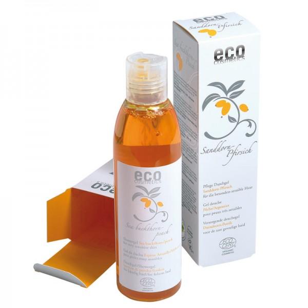 Pflege Duschgel Sanddorn-Pfirsich sensible Haut, 200ml - eco cosmetics