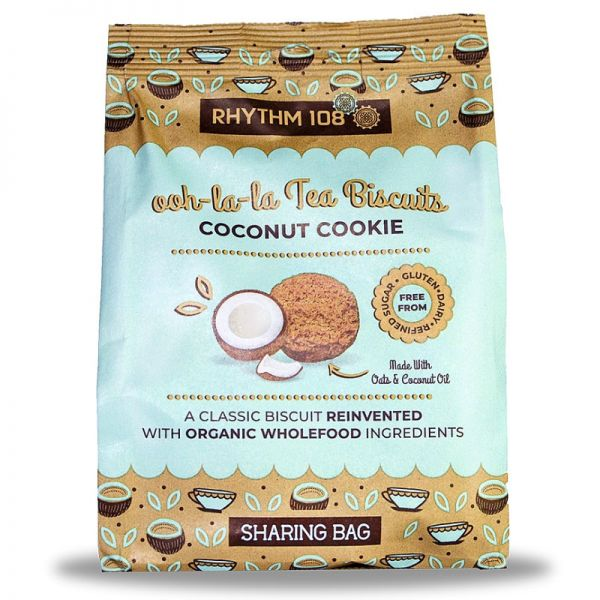 ooh-la-la Tea Biscuits Coconut Cookie Bio, 135g - Rhythm 108
