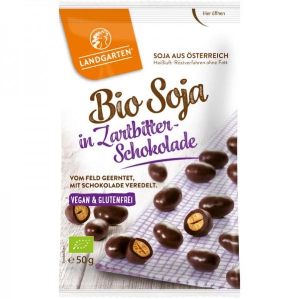Soja in Zartbitter-Schokolade Bio, 50g - Landgarten