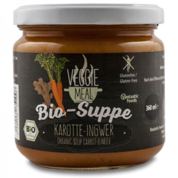 Karotte-Ingwer Suppe Veggie Meal Bio, 360ml - Vantastic Food