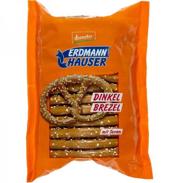 Grosse Dinkel Brezel mit Sesam Bio, 125g - ErdmannHAUSER