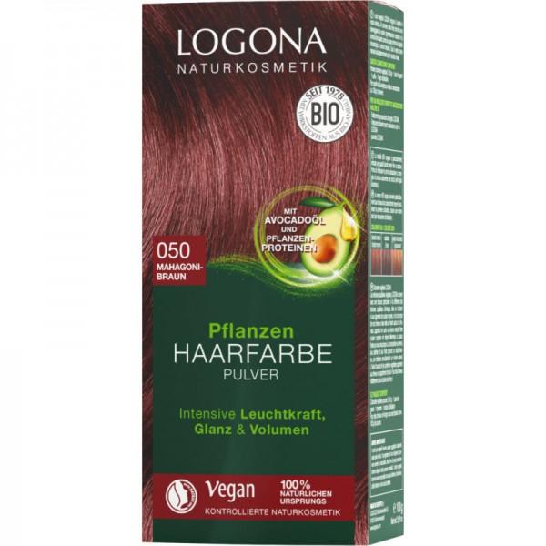 Pflanzen Haarfarbe 050 mahagonibraun, 100g - Logona