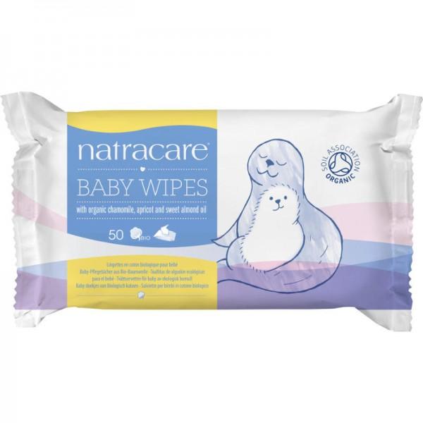 Baby-Pflegetücher Bio-Baumwolle, 50 Stück - Natracare