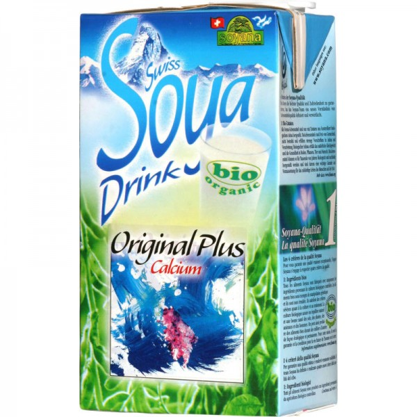 Original Plus Calcium Swiss Soya-Drink Bio, 1L - Soyana