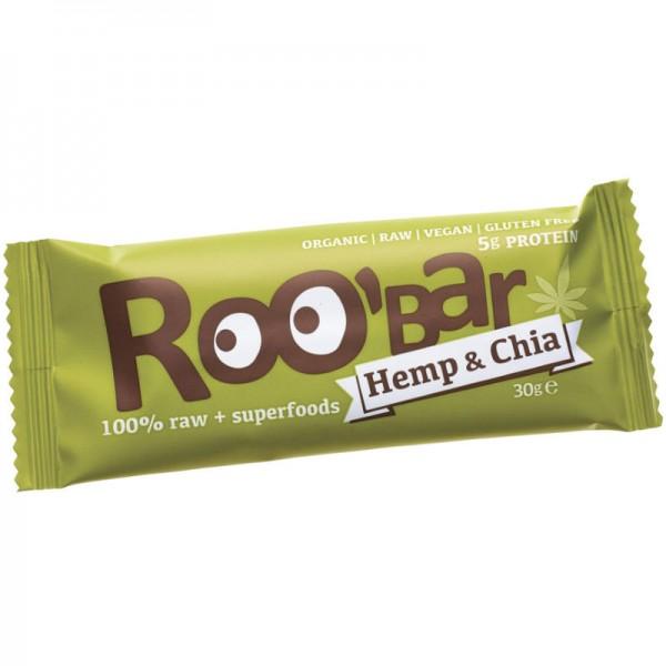 Hemp Protein Rohkost Riegel Bio, 30g - Roo'Bar