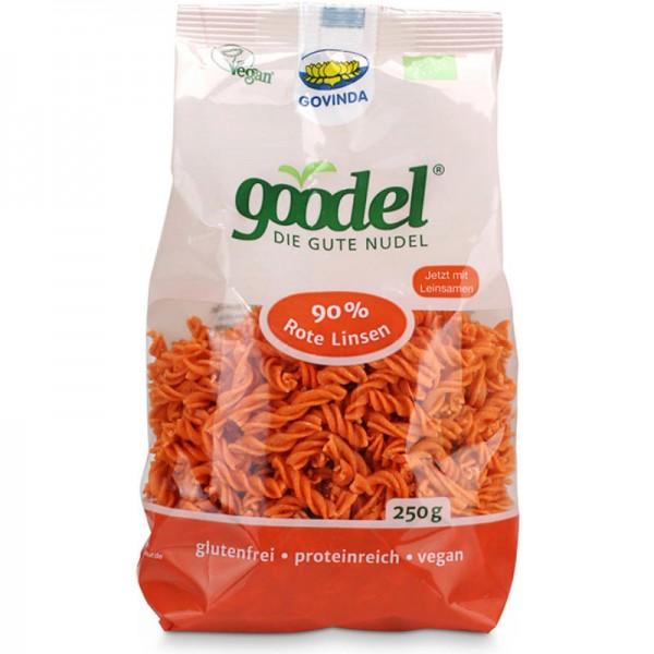 goodel 90% Rote Linsen Fusilli Bio, 250g - Govinda