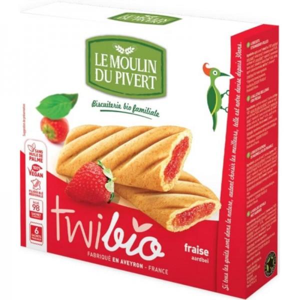 Twibio Keks mit Erdbeer Bio, 150g - Le Moulin du Pivert