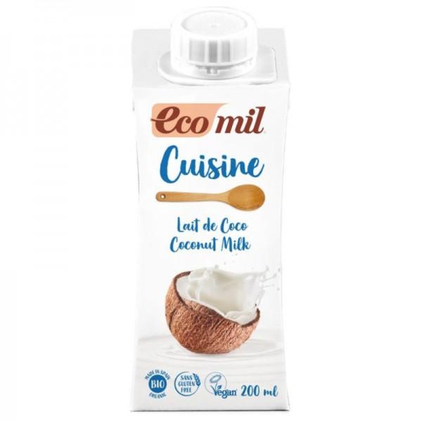 Coconut Milk Cuisine Bio, 200ml - Ecomil