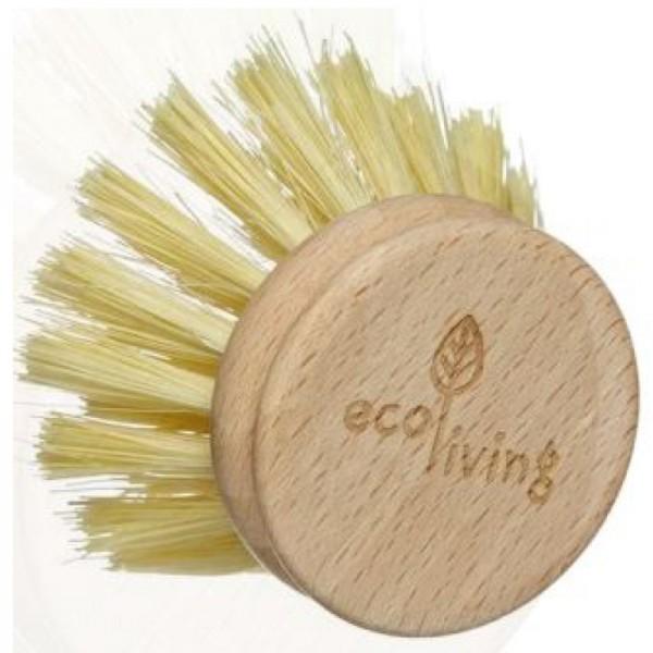 Ersatzkopf mit pflanzlichen Borsten für kunststofffreie Spülbürste, 1 Stück - Energybalance