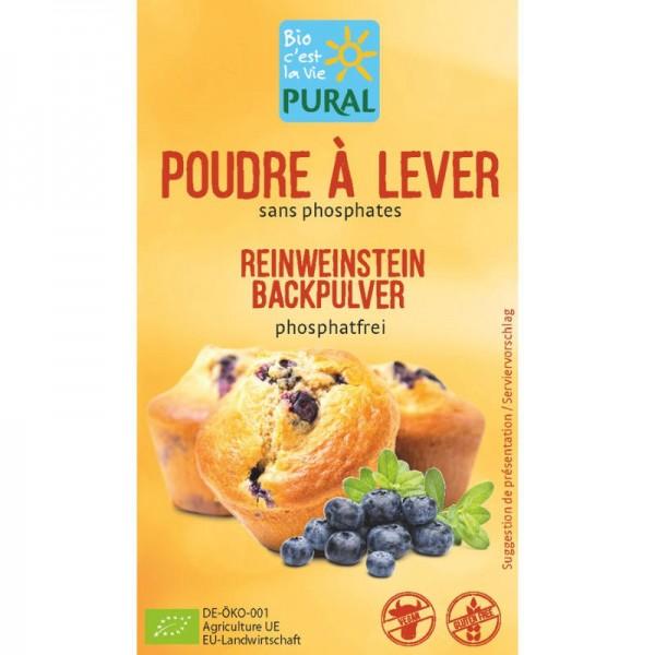 Reinweinstein Backpulver phosphatfrei Bio, 3x 21g - Pural