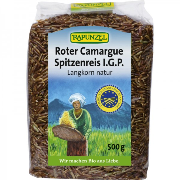 Roter Camargue Spitzenreis I.G.P. Langkorn natur Bio, 500g - Rapunzel