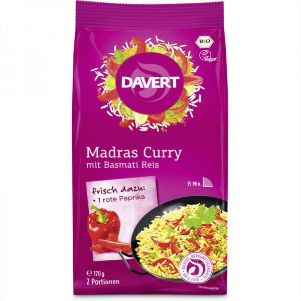 Madras Curry mit Basmati Reis Bio, 170g - Davert