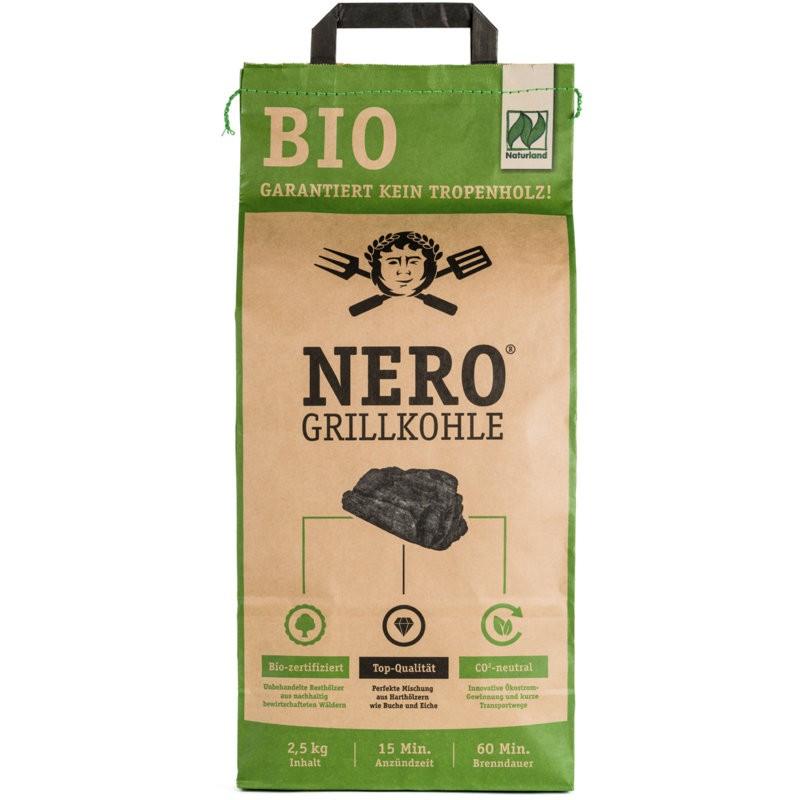 Grillkohle ohne Tropenholz Bio, 2.5kg - Nero