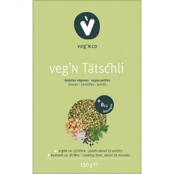 veg'N Tätschli + B12 Bio, 150g - veg' N co