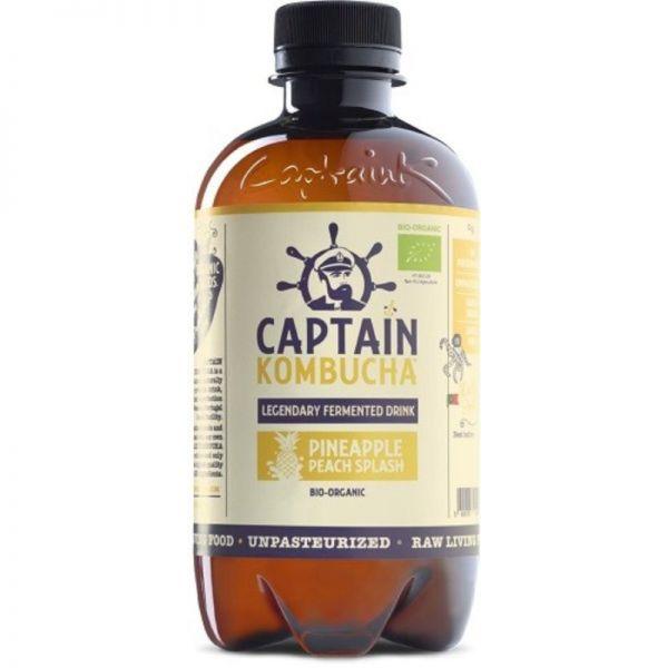 Pineapple Peach Splash Bio, 400ml - Captain Kombucha