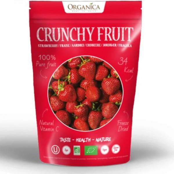 Crunchy Fruit Strawberry Bio, 12g - Organica