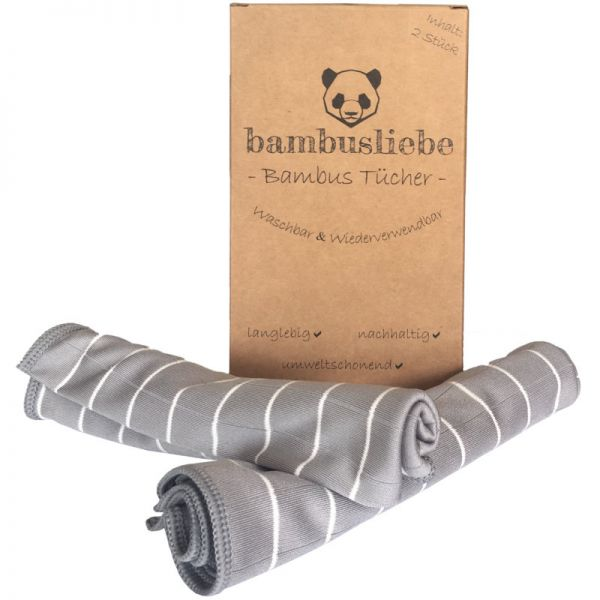 Bambus Reinigungstücher, 2 Stück - bambusliebe