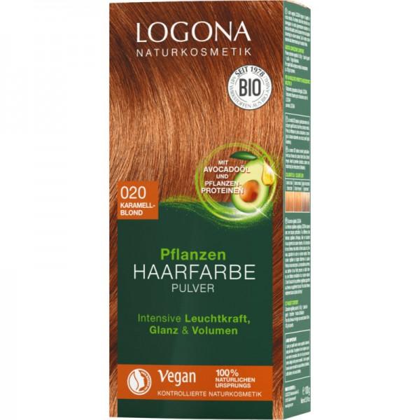Pflanzen Haarfarbe 020 karamellblond, 100g - Logona