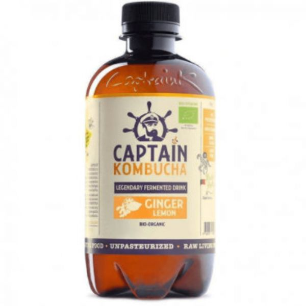 Gingembre Citron Bio, 400ml - Captain Kombucha