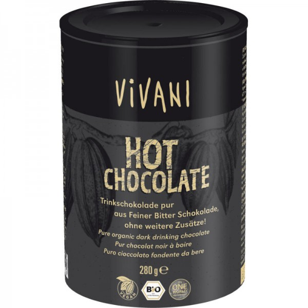 Hot Chocolate Trinkschokolade Bio, 280g - Vivani
