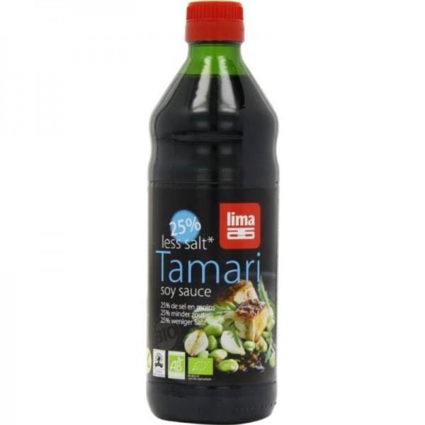Tamari soya sauce 25% weniger Salz Bio, 500ml - Lima