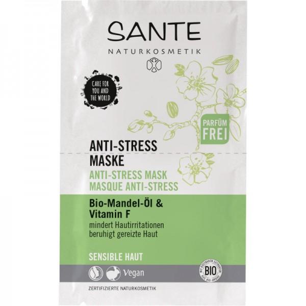 Anti-Stress Maske Bio-Mandel-Öl & Vitamin F, 2x4ml - Sante