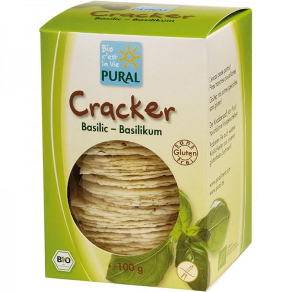 Cracker Basilikum Bio, 100g - Pural