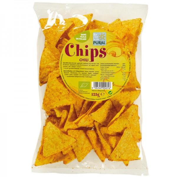 Mais Chips Chili Bio, 125g - Pural