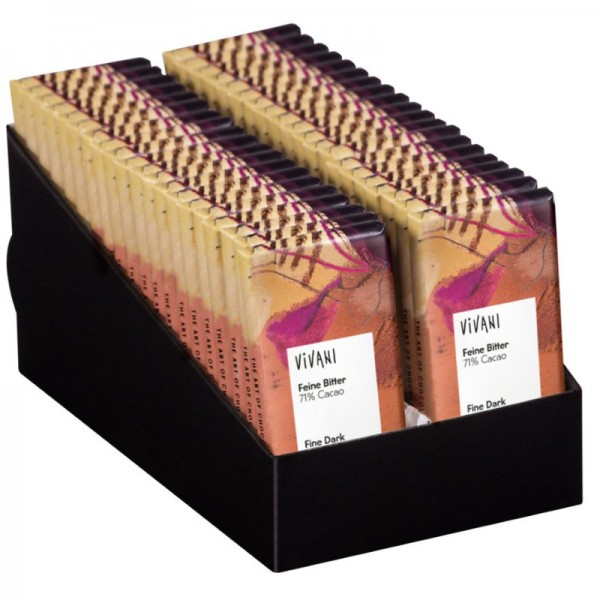 Mini Schokoladentafel Feine Bitter 71% Cacao Bio, 12.5g - Vivani