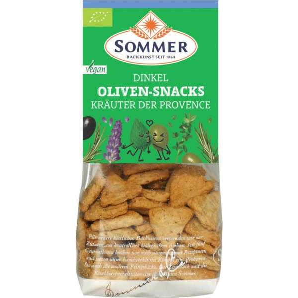 Kräuter der Provence Dinkel Oliven-Snack Bio, 150g - Sommer