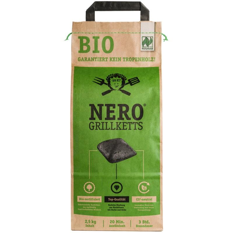 Grillketts ohne Tropenholz Bio, 2.5kg - Nero