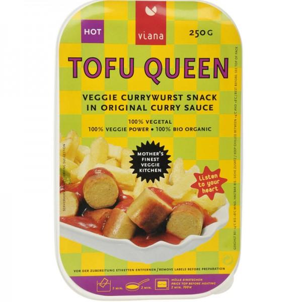 Tofu Queen Currywurst Snack Bio, 250g Viana