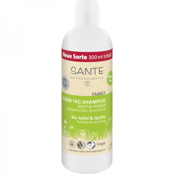 Family Jeden Tag Shampoo Bio-Apfel & Quitte, 300ml - Sante