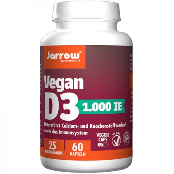 Vegan D3 1.000 IE 25µg, 60 Kapseln - Jarrow