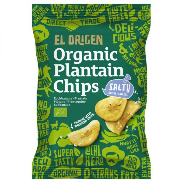 Plantain Chips salty Bio, 80g - El Origen