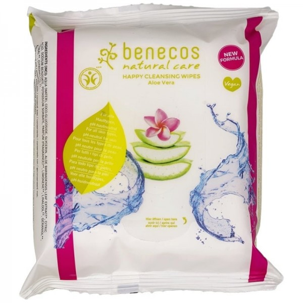 Happy Cleansing Wipes Aloe Vera, 25 Stück - Benecos