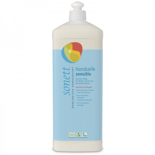 Handseife sensitiv Nachfüllflasche, 1L - Sonett