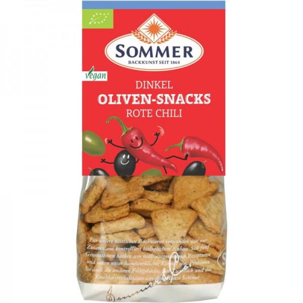 Rote Chili Dinkel Oliven-Snack Bio, 150g - Sommer